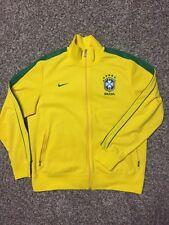 Nike Brasil Track Jacket Soccer XL Zip Up Yellow Fútbol Brazil Olympics