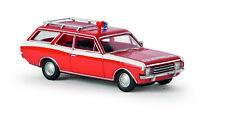 "OPEL REKORD C Caravan "" Pompieri "", H0 AUTO MODELLO 1:87, BREKINA 20554, DRUMMER"