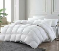 100% COTTON LUXURY PREMIUM 13.5 TOG WINTER WARM GOOSE FEATHER & DOWN DUVET QUILT