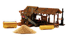 BUZZ'S SAWMILL KIT BY WOODLAND SCENICS HO-SCALE - EASY ASSEMBLY & DETAILED-SAVE$