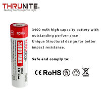 ThruNite T3400 18650 3400Mah 3.6V Li-On Rechargeable Batteries, 1 Count