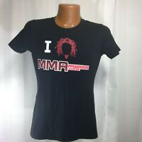 MMAPPEARANCES.COM Women's Black Crew Neck Short Sleeved T-shirt Medium