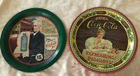 Lot of 2 Coca-Cola Commemorative Tray 85th Anniversary & 75 Anniversary