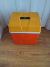 VINTAGE 1960s/70s BLUE COOL ICE BOX RETRO VW CAMPER STYLE PICNIC CAMPING