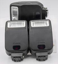 Lot of 3 Working! Canon Speedlite 200E Electronic SLR Camera Flash Units