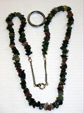 Collar De Piedras Preciosas Naturales Sandía Turmalina filamento de 19IN de largo 4-7MM Gemas na