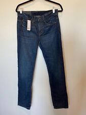 Helmut Lang Relaxed Tapered Jeans Dark Blue Wash Highlighted Women's 26 NWT $310