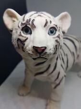 Tiger figur weiß tiger baby Katze Tiger Afrika-deko stehend 20x16x10cm