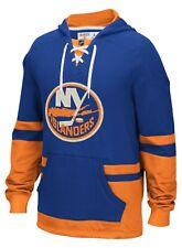 New York Islanders CCM blue pullover mock jersey hoodie or hooded sweatshirt NWT