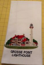 GROSSE POINT LIGHTHOUSE! Embroidered Wm Sonoma All Purposed Kitchen Towel
