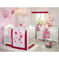 Butterfly Flower Bouquet 4 Piece Baby Girl Crib Bedding Set BY NoJo