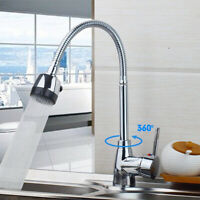 Kitchen Sink Faucet with Pull Down Sprayer Chrome Single Handle Pull out tap
