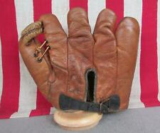 Vintage 1930s Spalding Leather Baseball Glove 242 Split Finger Mitt Dick Bartell
