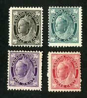 Canada Stamps # 66-9 F-VF OG LH Set of 4 Scott Value $190.00