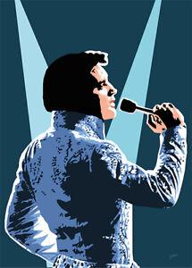 Elvis Presley - Spotlight on Elvis - Original (signed) art print - Jarod Art