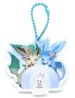 Pokémon Center Japan - Leafeon & Glaceon - Fantasy Christmas Keychain New