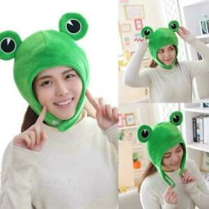 Cartoon Funny Adorable Plush Frog Hat Cosplay Costume Gift Hat Headgear Up 2021