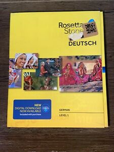 New Sealed Rosetta Stone Learn German Level 1 Ver 4 Software With Download