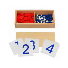children Montessori toys Cards Counter Math Homeschool learning 5 -12 years Game