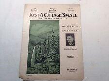 "Antique Piano Sheet Music,""Just a Cottage Small"", DeSylva;Hanley;McCormack"