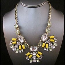 NEW Urban Anthropologie Trio Abstract Firefly Yellow Gemmed Necklace