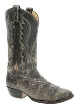 TONY LAMA Cowboy Boots 7.5 E Mens EXOTIC Western Viper SNAKESKIN Leather VTG USA