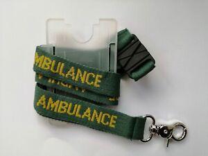 Lanyard AMBULANCE with ID Holder - First Responder EMT Paramedic Medic Community