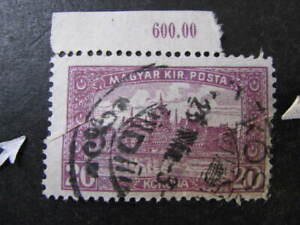 Hungary Stamp Used Pre-Printing Paper Fold Error Lot 7