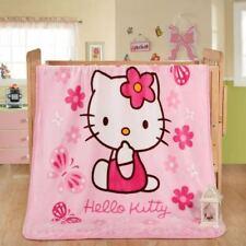 Kids Soft Mink Blanket Flannel Fabric 1 x 1.4 Meter Hello Kitty Pink