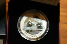 2013 25-CENT COLOURED COIN MALLARD IN BOX AS ISSUED BY THE ROYAL CANADIAN MINT