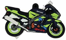 Kawasaki ZX-9R rubber key ring motor bike cycle gift keyring chain ZX9R ZX9