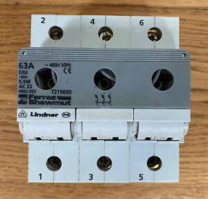 LINDNER 4863.063 Lasttrennschalter Linocur 3P 63A/400V Ferraz Shawmut für Neozed