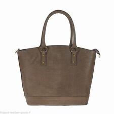 NEW Genuine leather woman handbag shoulder bag embossed lizard.Made in Italy
