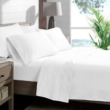 "King Sheet Set, Soft Microfiber Sheets King Size Bed Set, 15"" Deep Pocket, White"