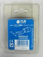 TLM Terminale preisolato a forcella 6,4 mm 10 pz ø filo 2,5 / 1 mmq cod. 070.4