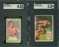 SGC LOT 2) SULLIVAN 1968-69 PANINI BOXING #482 CHAMPIONI ITALY & 1954 TOPPS JOHN