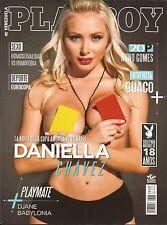 PLAYBOY VENEZUELA 2016 JULY COVER DANIELA CHAVEZ PLAYMATE DJANE BABYLONIA