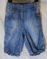 Baby Girls Primark Blue Pink Ditsy Floral Long Leg Jumpsuit Age 12-18 Months