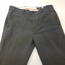 DOCKERS D1 Mens Trousers Chino Pants W34 L35 Grey Regular Fit Straight High Rise