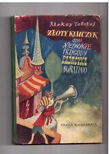 A Tołstoj Złoty kluczyk czyli niezwykłe przygody 1953 Polish book for children
