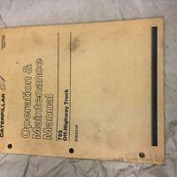 CAT CATERPILLAR 785 TRUCK OPERATION MAINTENANCE MANUAL