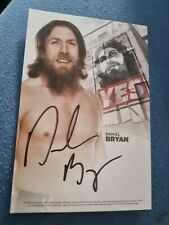 More details for wwe/wwf daniel bryan 1 of 100 autographed 6x4 index card signed american dragon