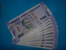 INDIA PAPER MONEY-10 X RS.100/-NEW DESIGN-SMALL'MG' NOTES-URJIT R.PATEL-2018#E4x
