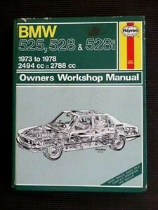 "BMW "" 525 ~ 528 ~ 528i "" 1973 to 1978  SERVICE and REPAIR MANUAL"