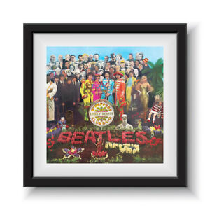 """The Beatles - Sgt Pepper's Lonely Hearts Club 12"""" Album Cover - Framed 16"""" x 16"""""""