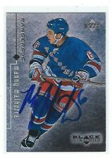 Manny Malhotra Signed 1998/99 Upper Deck Black Diamond Card #57