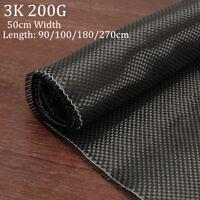 3K 200gsm Real Plain Weave Carbon Fabric Cloth Carbon Fiber Tape 20'' x 108''