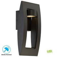 Frolynn 1-Light Oil Rubbed Bronze Gold Highlights Outdoor LED Wall Sconce