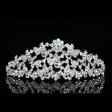 Bridal Butterfly Flower Rhinestone Crystal Wedding Crown Tiara 7763