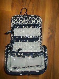 Vera Bradley Twirly Bird Navy Mini Hanging ORGANIZER Travel bag